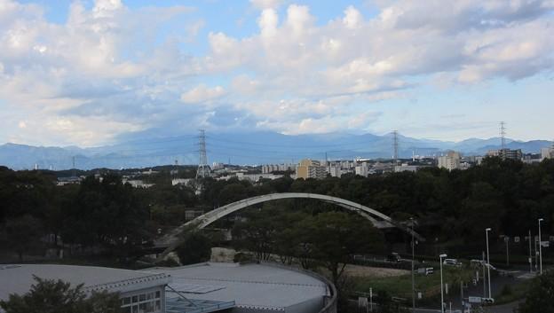 富士山は雲をかぶって