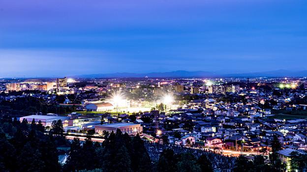 上越市金谷山公園から望む夜景