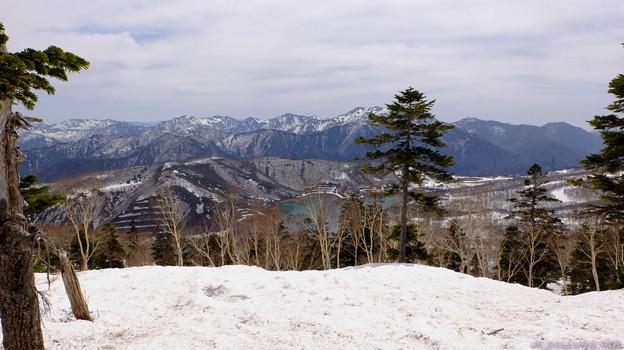 かぐらスキー場から田代湖