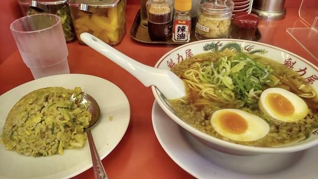 Photos: 魁力屋 味玉ラーメン チャーハンセット!