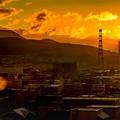 鉄塔のある風景/ Luminosity