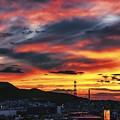 Photos: 鉄塔のある風景/ west burns