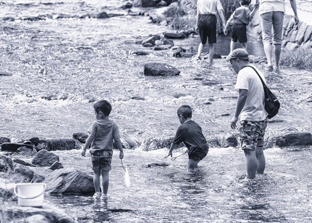 Summer memories-river play
