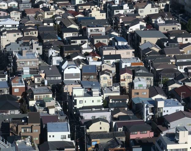 下町の家々