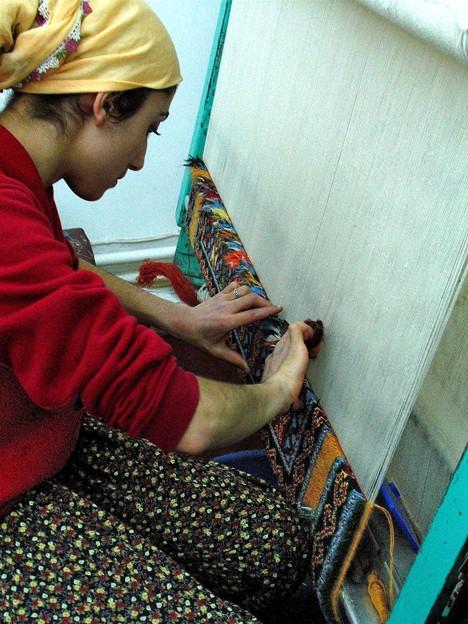 トルコ絨毯織り