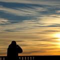 朝陽を撮る