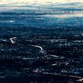 朝の市街地