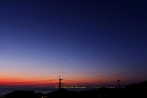 早朝の土星と木星