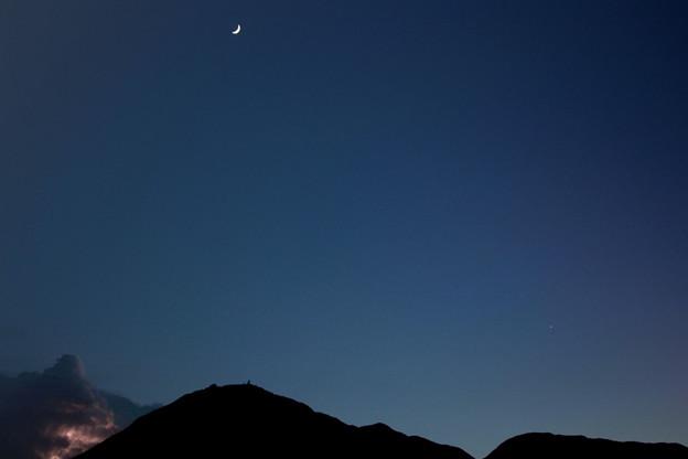 月と金星と雷光