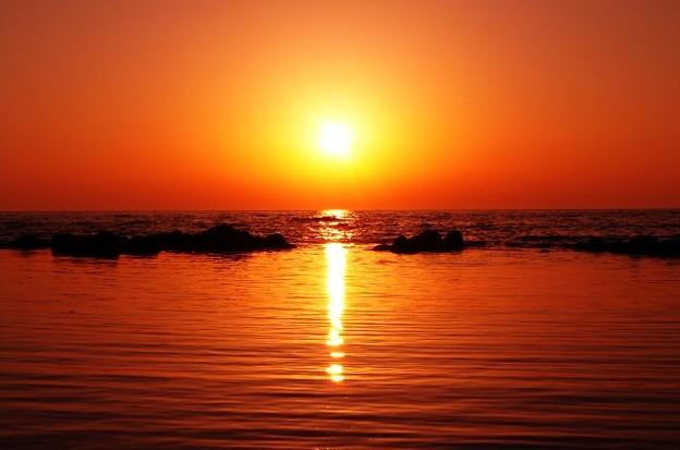 夕景 能登 上野海岸