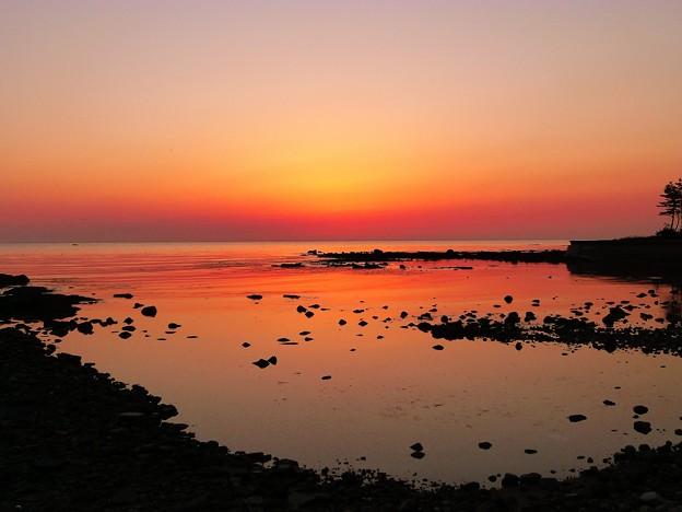 落陽 能登百浦海岸