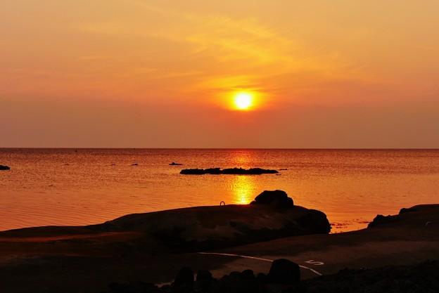 夕景 能登は福浦海岸