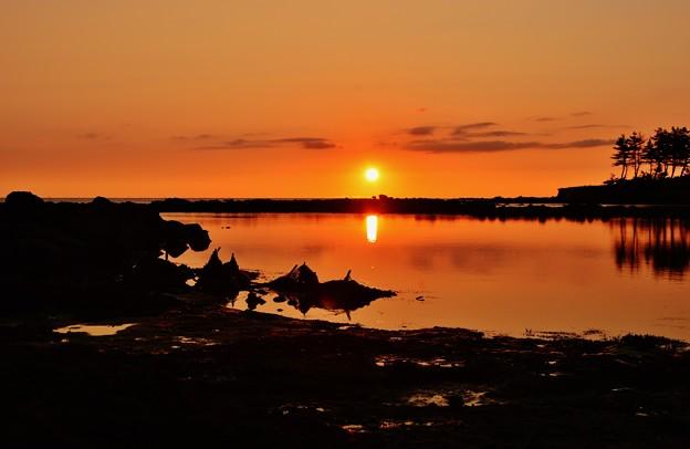 静寂の夕景 能登半島