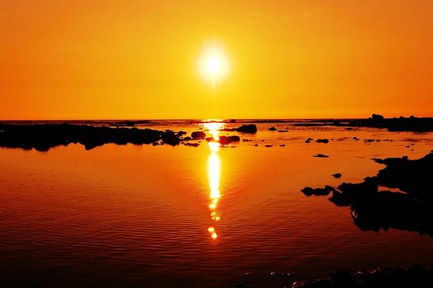 落陽  能登半島 赤住海岸