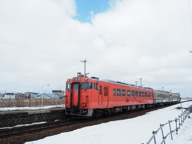 五能線 キハ40 鶴崎駅