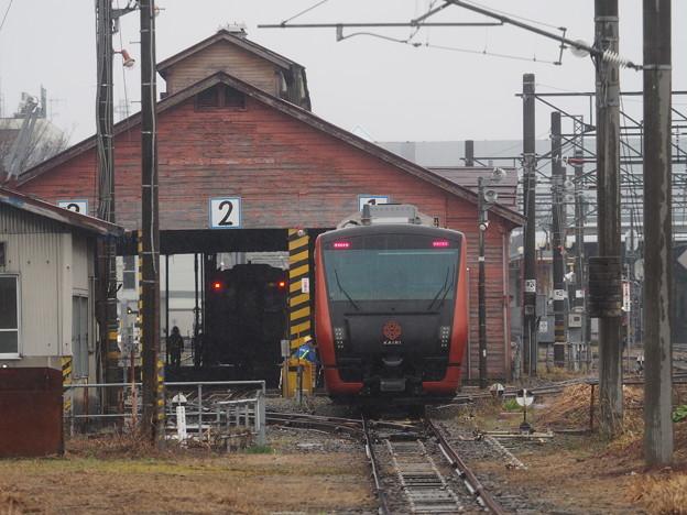 海里さくら回廊号 新庄駅機関庫