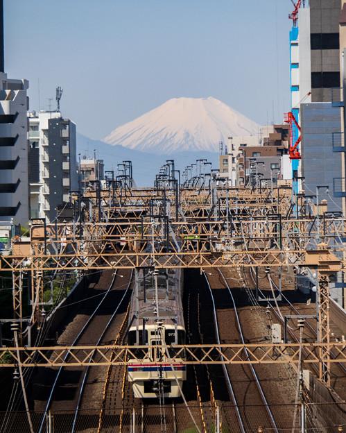 富士山と京王線