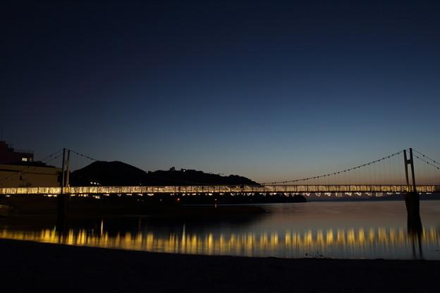 観月橋にイルミネーション・・湯の児