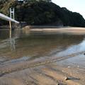 湯の児海水浴場引き潮