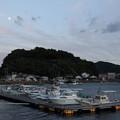 黄昏時の丸島漁港