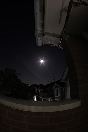 小望月と魚眼レンズ初撮影