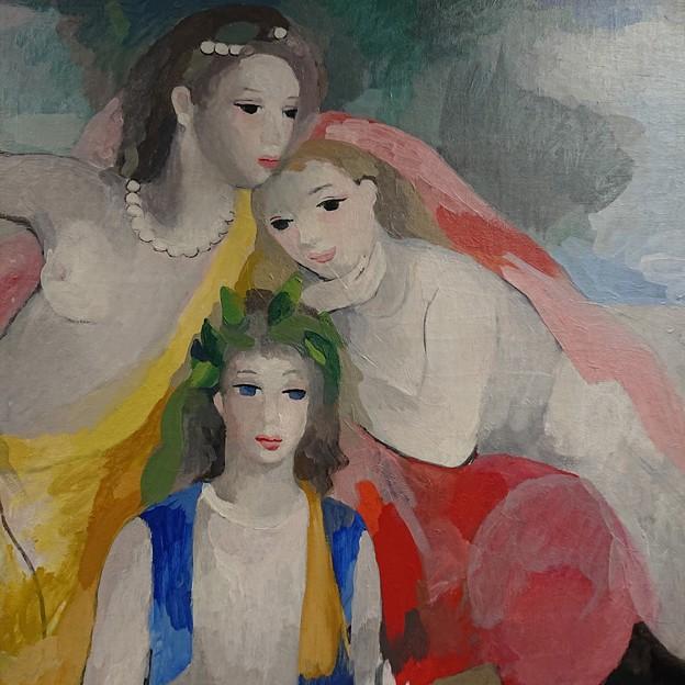 マリー・ローランサン「三人の若い女」1953年