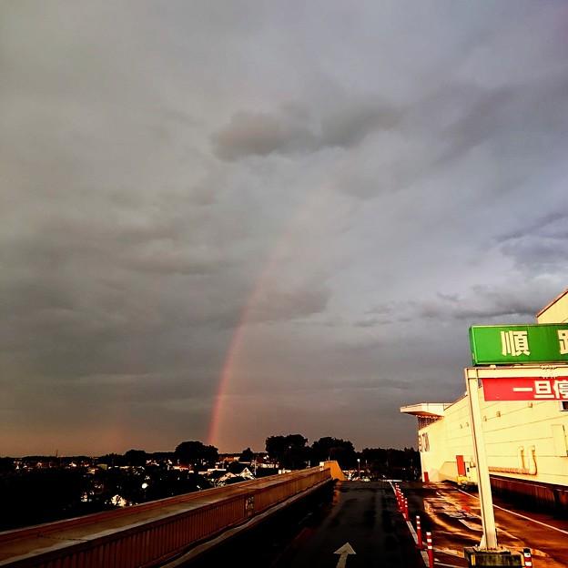 赤い虹が出た