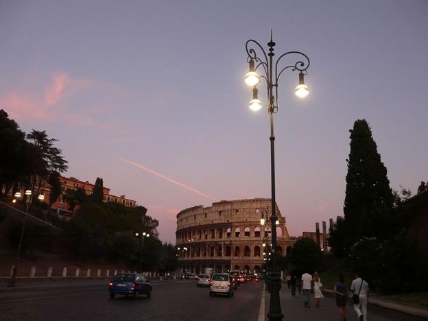 夕日のコロッセオ
