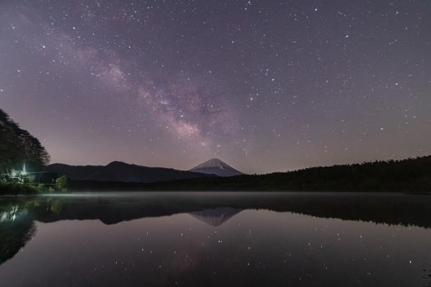 西湖にて 天の川と富士山 その1