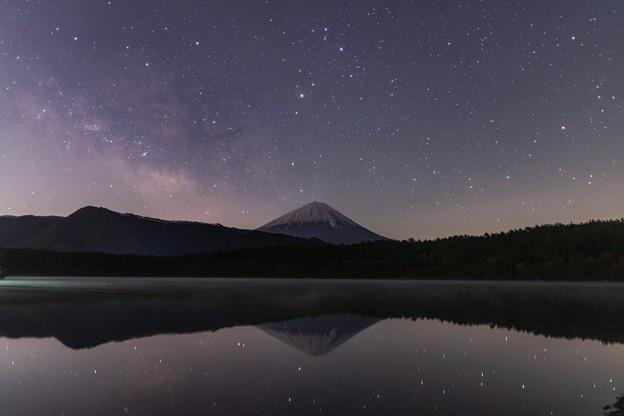 西湖にて 天の川と富士山 その2