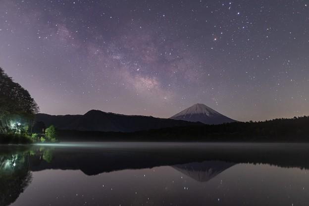 西湖にて 天の川と富士山 その3