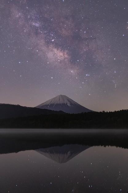西湖にて 天の川と富士山 その4