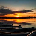 朝焼け 日の出 ローアングル