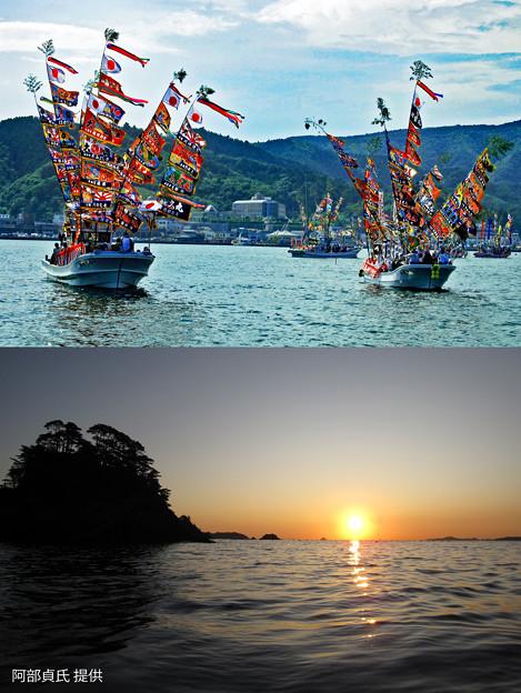 <参考> 震災前の女川の海と港祭り
