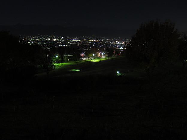 笛吹川フルーツ公園からの夜景