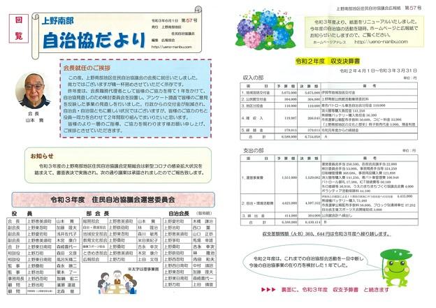 上野南部自治協だより57-1