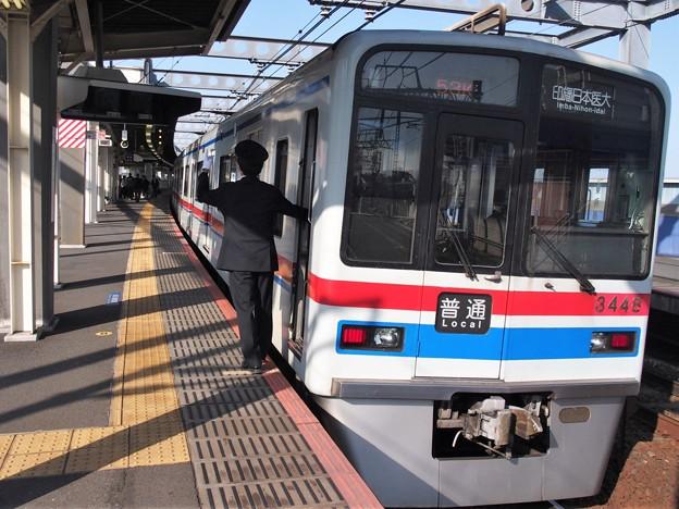 京成押上線八広駅2番線 京成3448F普通印旛日本医大行き側面よし