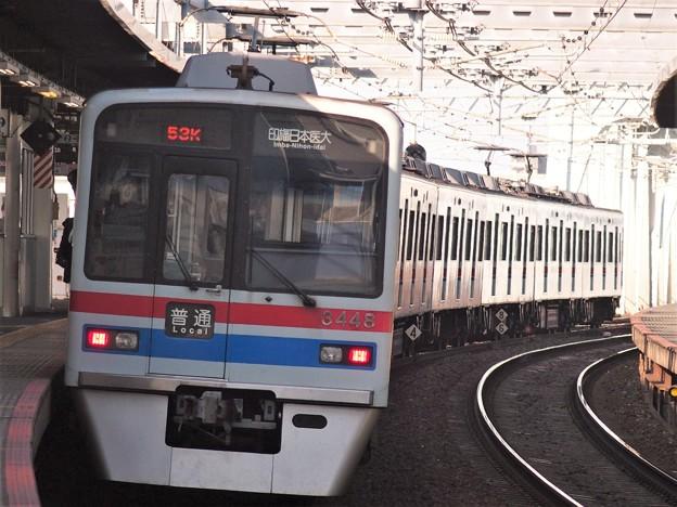 京成押上線八広駅2番線 京成3448F普通印旛日本医大行き