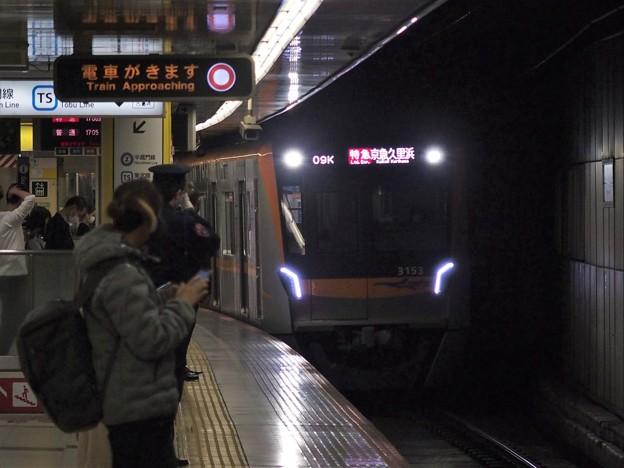 都営浅草線押上駅1番線京成3153F 特急京急久里浜行き進入