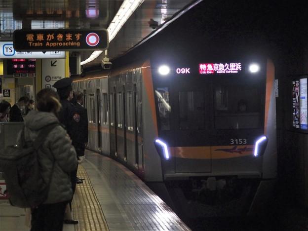 都営浅草線押上駅1番線京成3153F 特急京急久里浜行き進入(2)