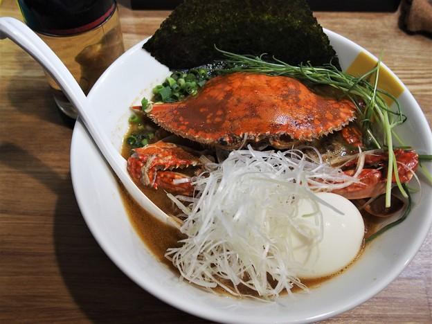 塩生姜らー麺専門店MANNISH亀戸店 もぐらのワタリ蟹の塩みそらー麺