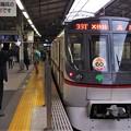 京急線品川駅2番線 都営5320F(浅草線開業60周年HM)エアポート快特高砂行き表示確認