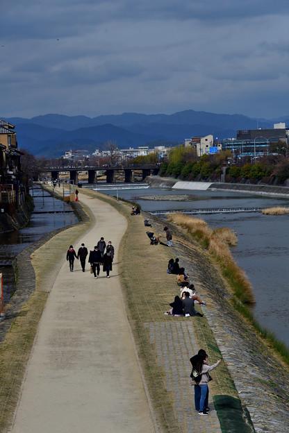 2021_0228_134335 四条大橋から鴨川上流を望む