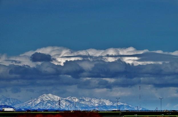 北風吹き抜く北の連山