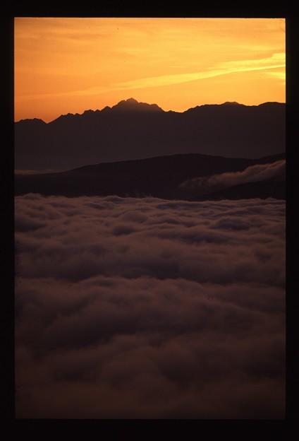 雲海の上から