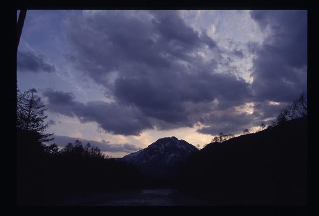焼岳の朝焼け