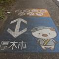 あゆコロちゃん路面標示
