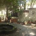松籟荘玄関前庭