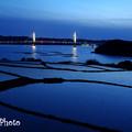 Photos: 橋が見える棚田