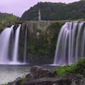原尻の滝、夕暮れ時1